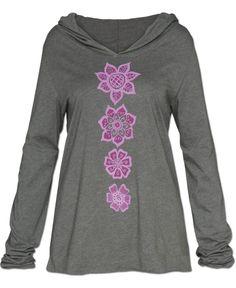 Mehndi Yoga Hoody: Soul Flower Clothing