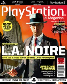 L.A. Noire PlayStation The Official Magazine       Video Game Systems  Information.