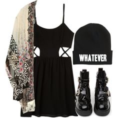 """:/"" by feathersandroses on Polyvore"