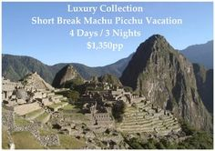 Take the First Class Vistadome Train to and from Machu Picchu whilst enjoying the stunning views of the Andes and the Sacred Valley of the Inca.  Note that the tour starts and ends in Cusco as standard. You will be offered Flights Lima / Cusco / Lima as part of the booking process.