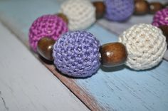 Nursing/Teething Necklace and Teething Ring by BellaHenryBoutique, $15.00