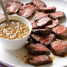 Hanger Steak w/ Green Garlic - must try!