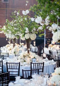 Like the hanging lights from the centerpieces