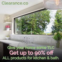 Don't Miss Out! Last day of our Kitchen and Bath Blowout Sale - Save up to 90% Off all Kitchen and Bath products! Visit today: Clearance.co #kitchen #bath #sale Kitchen And Bath, Bath Products, Kicks, Home Decor, Decoration Home, Room Decor, Interior Design, Home Interiors, Interior Decorating