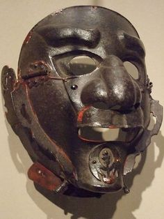 Japanese iron face masks 15th century