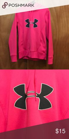 Under Armour Hoodie Hot pink Under Armour hoodie Sweaters