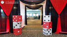 Montreal Wedding Corporate Casino Theme Decor Chateau Vaudreuil