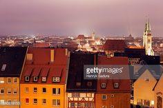 Germany, Bavaria, Nuremberg, Old town at night