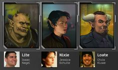 Player character portraits for the cRPG Shadowrun Returns - Mr. Kluwe is totally my favourite character. Shadowrun Returns, Shadowrun Rpg, Rpg World, By Any Means Necessary, Totally Me, Character Portraits, Fantasy Creatures, Getting Things Done, Cyberpunk