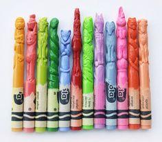 Sculpted pastel pencils