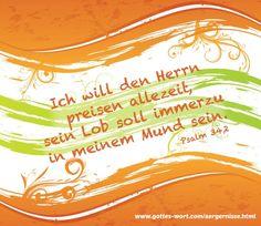 Preise den Herrn, allerzeit! Lese: http://www.gottes-wort.com/aergernisse.html