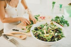 Life changing salad: The Spring Green Salad with Lemon Feta Dressing via @simplyrealhealth