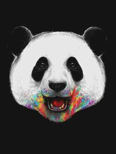 Displate Poster Where is the Rainbow? panda Source by andankliebediech Wallpaper Fofos, Dog Food Container, Panda Love, Panda Panda, Rainbow Print, Rainbow Colors, Poster Prints, Art Prints, Favim