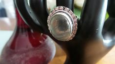 Sterling Silver ring with Rutilated Quartz,  size 8.5 by FierStaarGems on Etsy