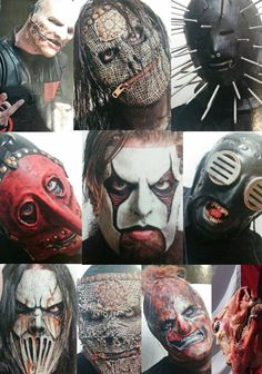 Slipknot #Maggots ❤/I liked Jim's old mask better. It had more color to it. The others, with the exception of Corey, all look pretty much the same. I hope they let the new members do something with their masks ; they look so plain compared to the rest of the group.
