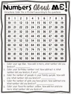 Numbers about Me FREEBIE. Perfect for the first week of school. Love the idea of this being the first page in your Math ISN!