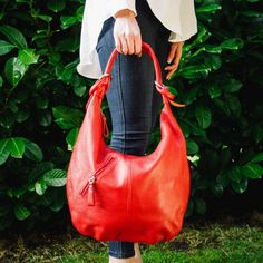 Red Real Leather Slouch Shoulder Bag – by Derbyshire based handbag brand Amilu    he Aylesbury hobo slouch shoulder bag in Red is a smart but relaxed shoulder bag and a very comfortable wear, made from soft grain real Italian leather that slouches in all the right places.    FREE UK DELIVERY    #red #redbag #casual #casualstyel #casualoutfit #slouchbag #leatherbag #shoulderbag #slouchybag #style #newseason #brightred #freedelivery #giftsforher #bagsforher #womensbag