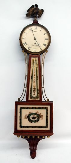1956 Elmer O Stennes Time Only Banjo Clock Foster Campos Era