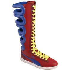 puma boots for your wonder woman costume? Puma Boots, Sneakers Box, First Round, Yoga Fashion, Sneaker Boots, Rubber Rain Boots, Leather Boots, Footwear, Wonder Woman
