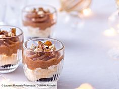 Mont-blanc en verrines - Recettes Mont-blanc in verrines easy and fast: discover the recipes of Curr Best Christmas Desserts, Christmas Fun, Mont Blanc Dessert, Mt Blanc, Panna Cotta, Cheesecake, Pudding, Cooking, Ethnic Recipes