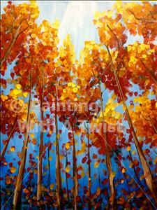 Looking into Fall - Farmington, MI Painting Class - Painting with a Twist