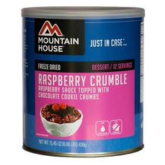 Mountain House 12 Serving Raspberry Crumble Freeze Dried Food 10 Can Pack of 6 -- See this great product.(This is an Amazon affiliate link)