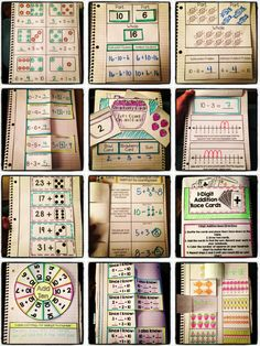 This set of Interactive Notebook Activities will keep your first grade students engaged and excited about math this year! This set focuses on addition and subtraction concepts. Math Classroom, Kindergarten Math, Teaching Math, Classroom Ideas, 1st Grade Math, First Grade, Grade 1, Interactive Math Journals, Math Notebooks