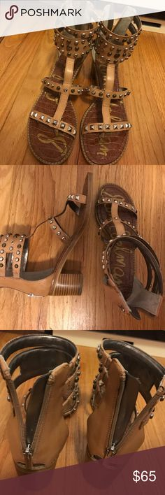 Studded Sandals Sam Edelman 💚 Studded Sandals w/ zipper at the back Sam Edelman Shoes Sandals