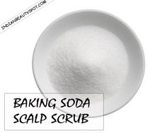 DIY Baking soda Scalp Scrub to deep clean scalp from product build up for healthy voluminous hair