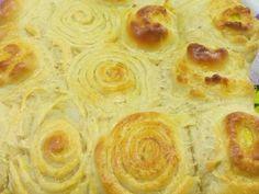 Rosca / rosquinhas de coco (pão doce)