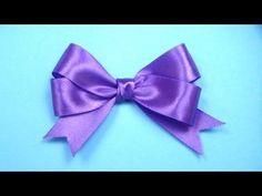 ▶ Как сделать БАНТИК ИЗ ЛЕНТЫ любого размера / Satin ribbon Bow DIY - YouTube