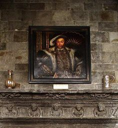 A portrait of King Henry VIII lords over the ancient stonework in Leeds…