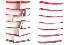 Top 20 Creative Bookshelf Design from Modern and Modular for You: Exciting Rubber Creative Bookshelves Design Ideas Elastic Bookshelf ~ flohomedesign.com Ideas Inspiration