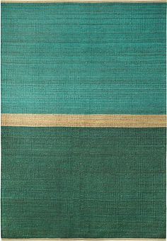 Hemp rug Field Green/Blue by Brita Sweden
