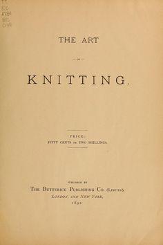 The Art of Knitting - Vintage knitting downloads