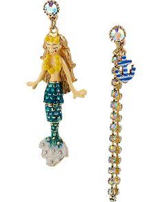 NAUTICAL MERMAID MISMATCH EARRING MULTI accessories jewelry earrings fashion