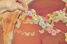 Beautiful, simple butterfly garland perfect for a little girls room