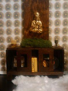 Modern Miniature Mahogany Bookshelf - Dollhouse Size. $40.00, via Etsy.