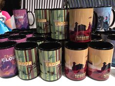Exclusive Star Wars mugs found in the Mickeys of Glendale store at #D23Expo2015  Www.extendedqueue.com