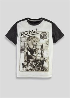 comedy lion graphic tee