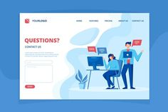 Questions Page Illustration Design By Freepik Page Template, Banner Template, Templates, About Us Page Design, Simple Web Design, Flat Design, Learning Web, Ship Vector, Web Design Projects