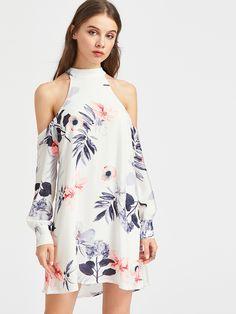 Shop Floral Print Open Shoulder Self Tie Back Dress online. SheIn offers Floral Print Open Shoulder Self Tie Back Dress & more to fit your fashionable needs.
