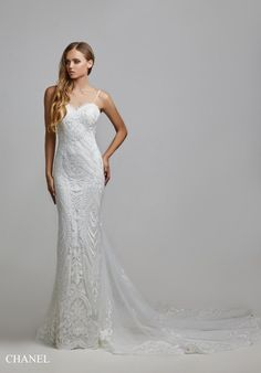 Chanel Bridal Suite, How Are You Feeling, Chanel, Neckline, Gowns, Wedding Dresses, Lace, Pattern, Fashion