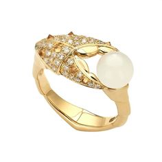 Jewels Verne Crab Pincher pearl ring