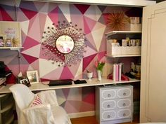 faceted wall paint treatment