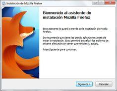 Descargando el navegador apropiado. http://www.softonic.com/s/mozilla-firefox-espanol
