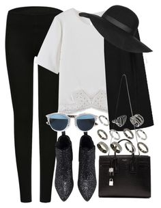 """""""Untitled #771"""" by rguelsah ❤ liked on Polyvore featuring moda, Yves Saint Laurent, Christian Dior, ASOS, Topshop, women's clothing, women, female, woman e misses"""