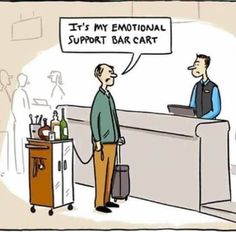 EmporiumSF MEET ME THERE ASAP Please note Emotional support bar carts are also not permitted in the venue. But we do provide emotional support bartenders for your convenience. Haha Funny, Funny Cute, Funny Memes, Hilarious, Funny Stuff, Funny Things, Funny Cartoons, Emotional Support Animal, Frases