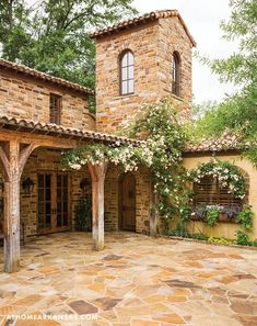 Rustic Italian Home – La Bella Vita Mediterranean Style Homes, Spanish Style Homes, Spanish House, Mediterranean Architecture, Tuscan Style Homes, Style Toscan, Tuscan House, Stone Houses, Maine House