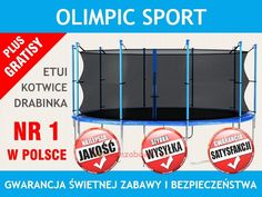 Trampoliny ogrodowe Olympics Sport w kilku rozmiarach. Trampoliny Olympics to bezpieczeństwo i jakość. Sprawdź naszą ofertę !